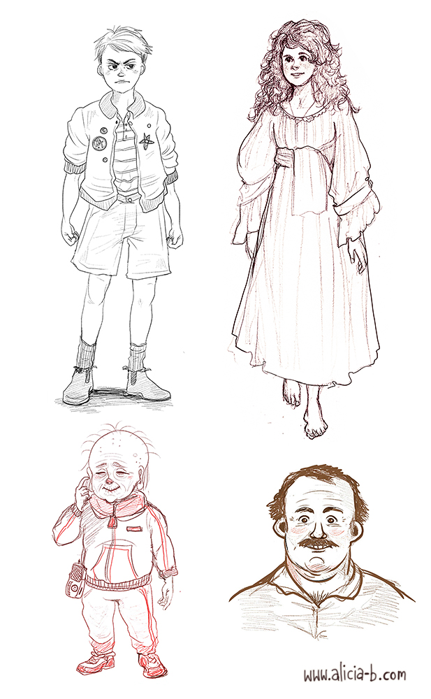 Character Design Competition 2014 : Alicia s portfolio character design people
