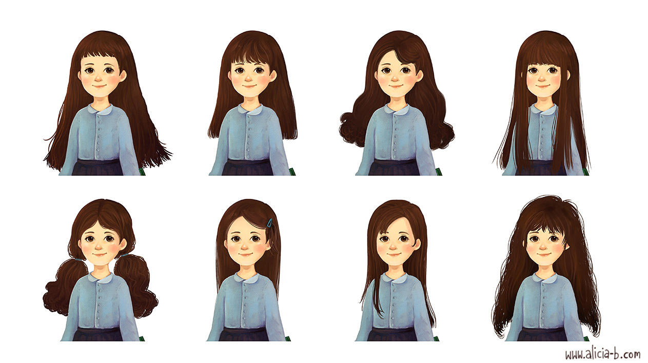Character Design Hairstyles : Alicia s portfolio character design people